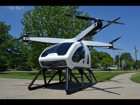 Personal hybrid electric octocopter pertama di dunia yang dipamerkan di 2018 CES