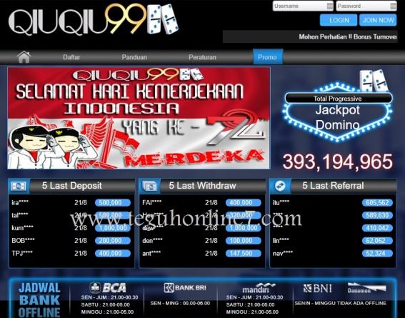 Diproteksi: QIUQIU99.COM AGEN JUDI DOMINO ONLINE TERPERCAYA DI INDONESIA